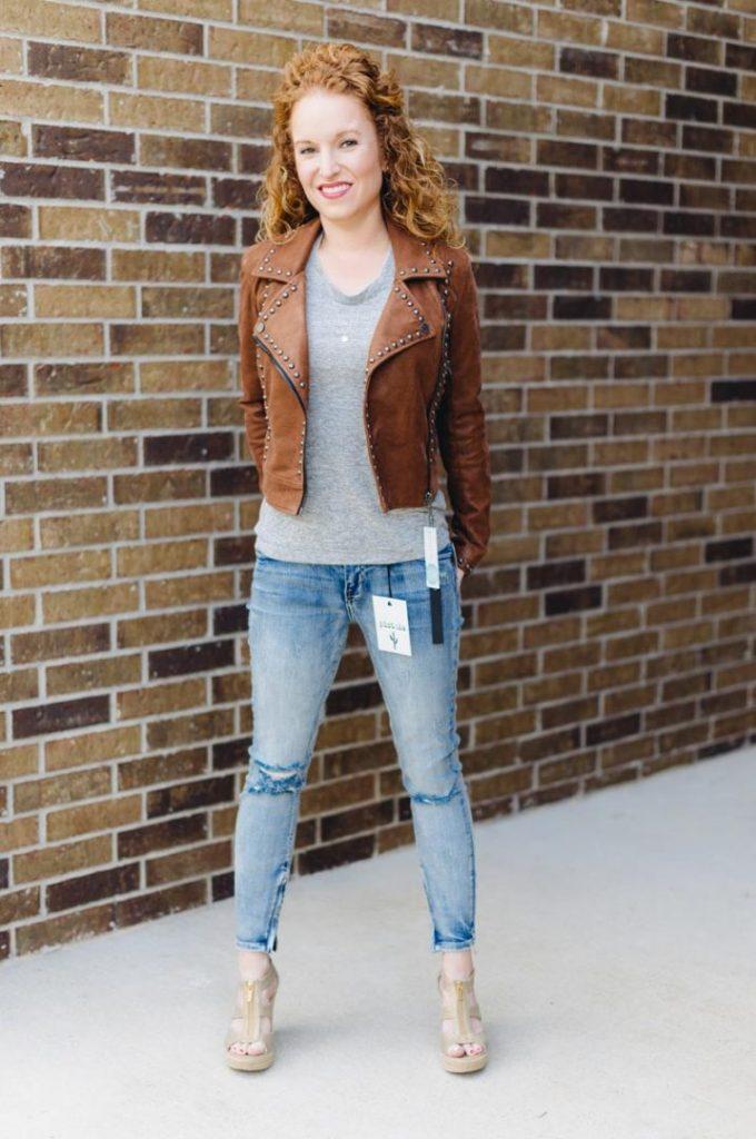 Tory Distressed Ankle Zip Skinny Jean