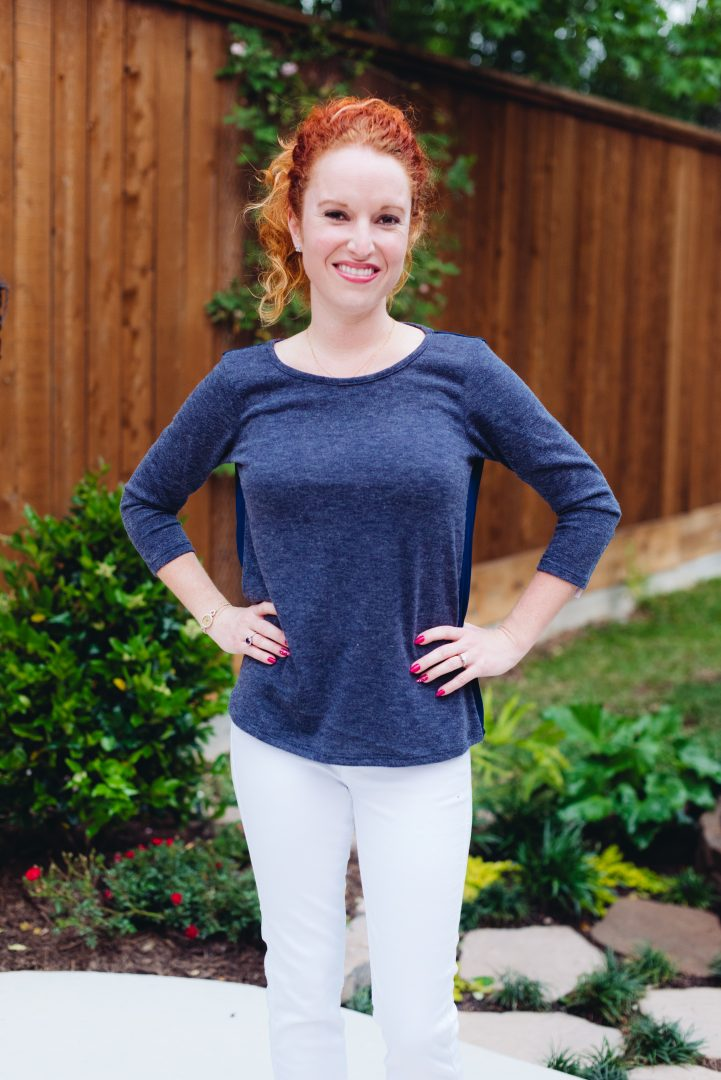 Topeka Crossover Back Knit Top