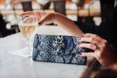 Brandeis Blue Faux Snakeskin Wallet