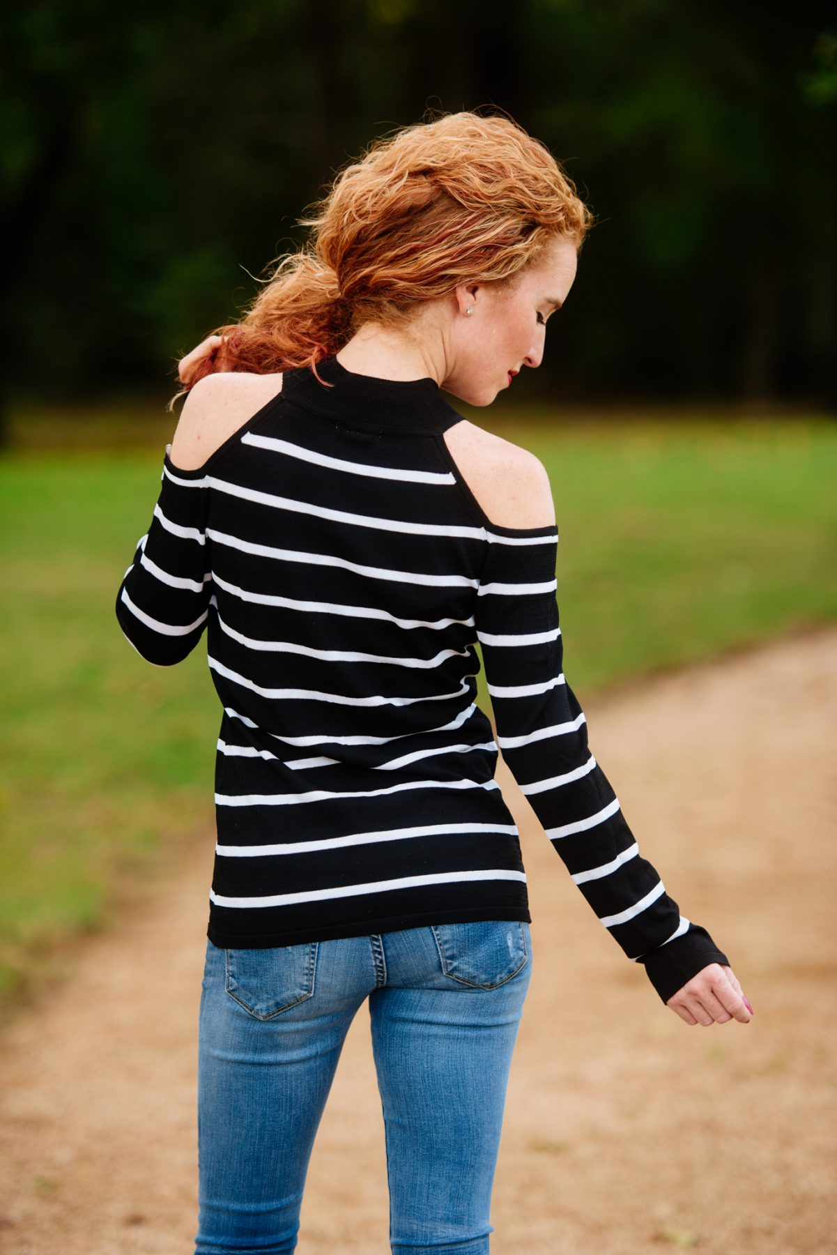 Cotton Emporium - Felicitie Cold Shoulder Pullover