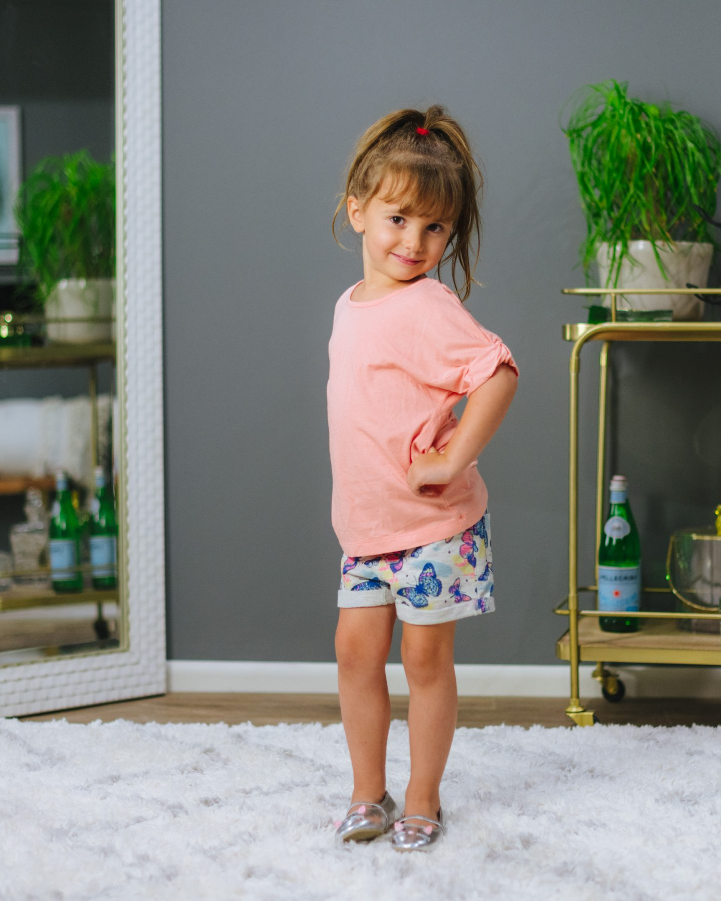 V Gold Mia Roll Cuff French Terry Shorts