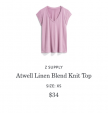 Atwell Linen Blend Knit Top