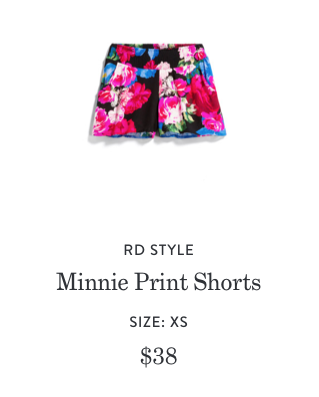 Minnie Print Short