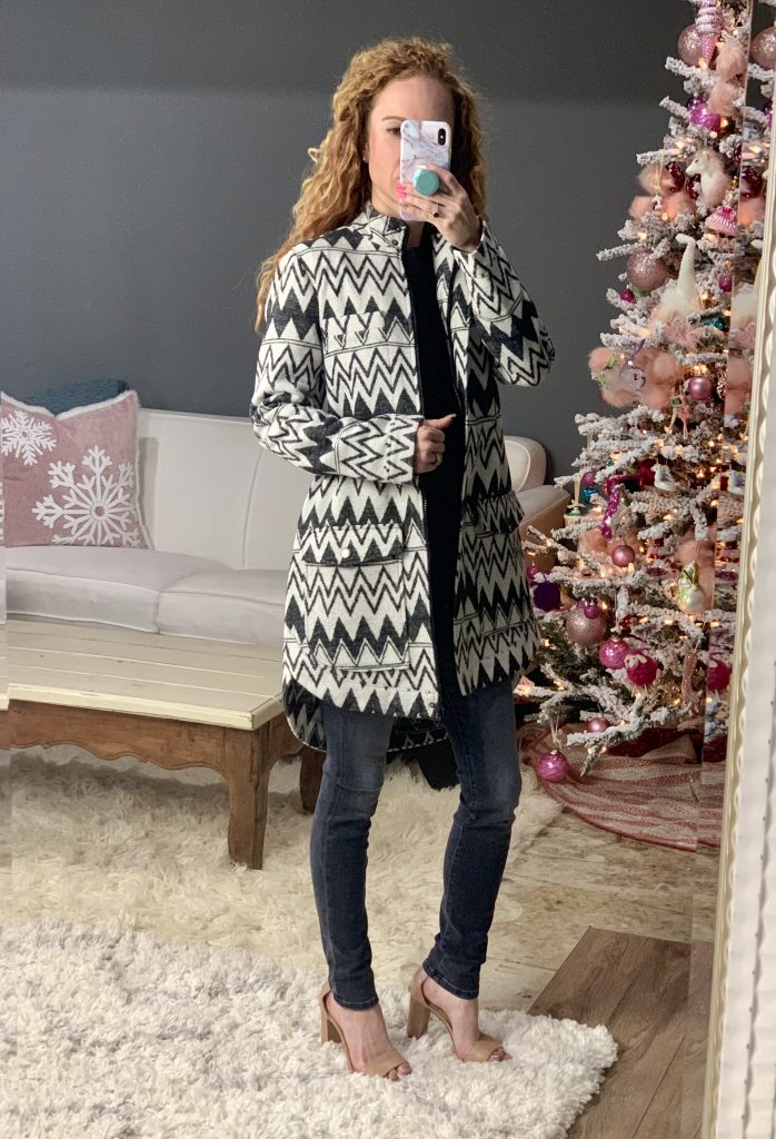 BB Dakota Chevron Fleece Coat