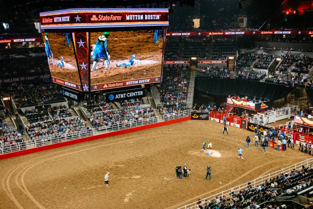 San Antonio Rodeo Bareback Riding