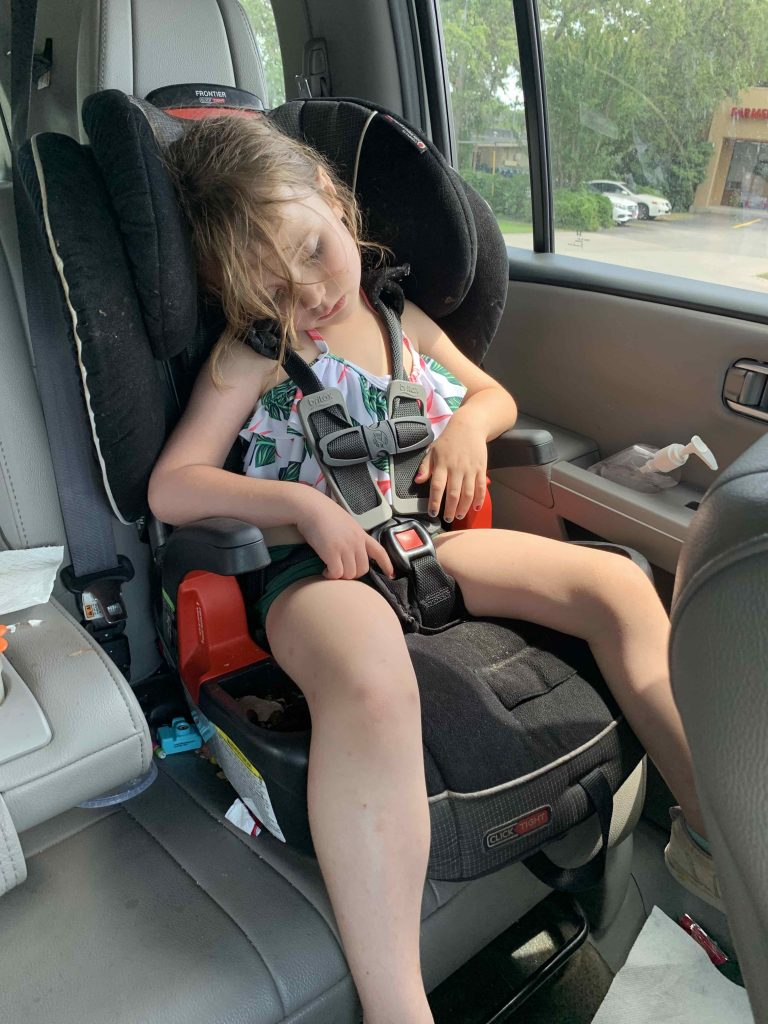exhausted child